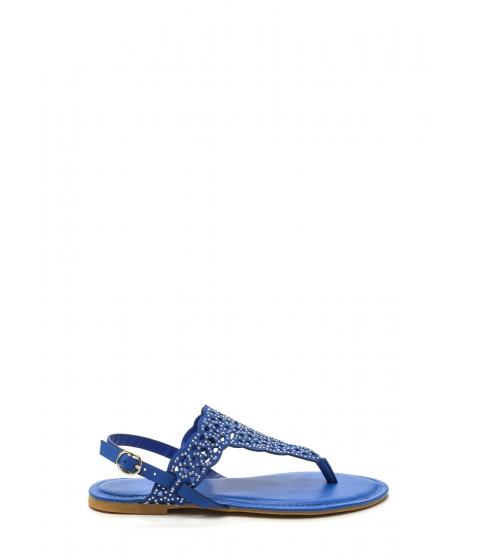 Incaltaminte Femei CheapChic Elegant Flair Faux Nubuck Sandals Sapphire