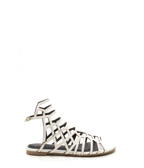 Incaltaminte Femei CheapChic Window Shopping Faux Leather Sandals White