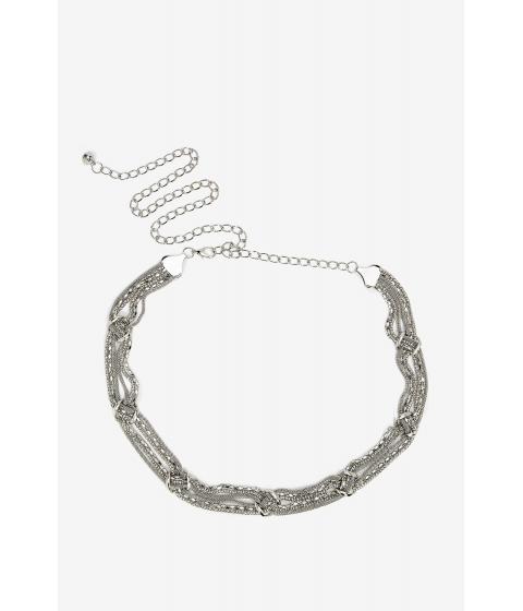 Accesorii Femei CheapChic Knot Accent Chain Belt Met Slvr