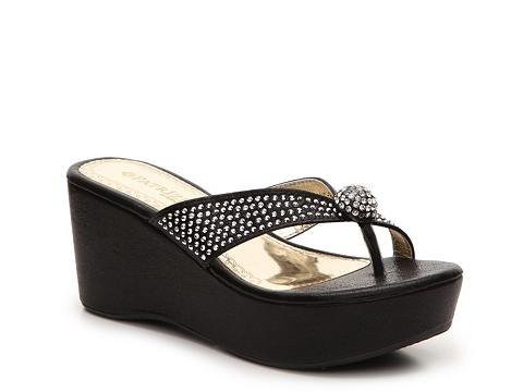 Incaltaminte Femei Patrizia by Spring Step Luscious Wedge Sandal Black