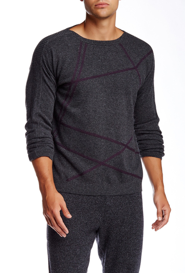 Imbracaminte Barbati Quinn Ham Cashmere Sweater Charcoal Heather-Aether Purple
