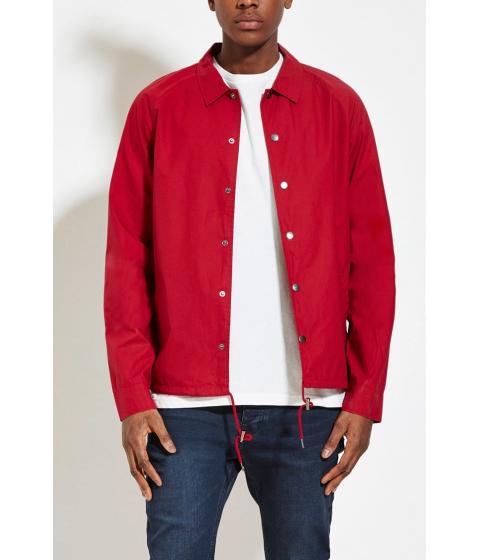 Imbracaminte Barbati Forever21 Mens Drawstring-Hem Cotton Jacket Red