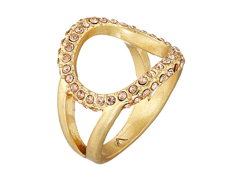 Bijuterii Femei Vince Camuto Dainty Open Pave Ring Worn GoldLight Peach Pave