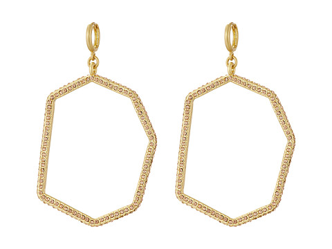 Bijuterii Femei Vince Camuto Huggie Statement Open Drop Earrings Worn GoldLight Peach Pave
