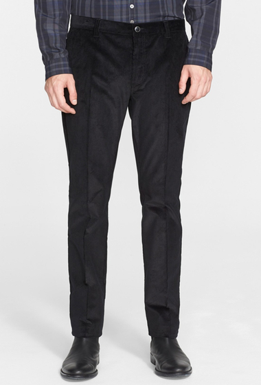 Imbracaminte Barbati John Varvatos Collection Moto City Corduroy Pant BLACK