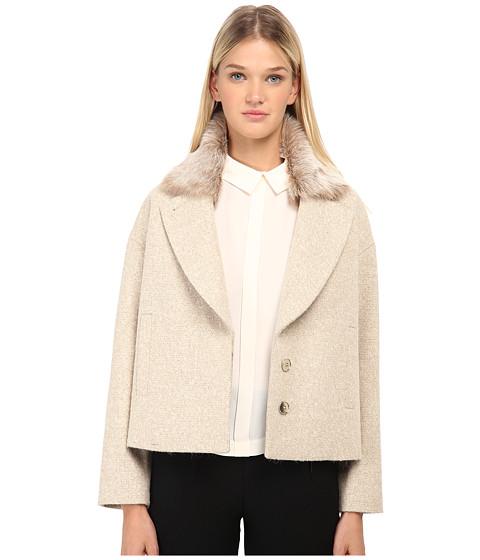 Imbracaminte Femei Paul Smith Jacket w Fur Collar Tan