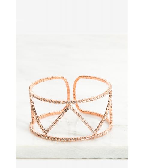 Bijuterii Femei CheapChic Zig Zag Rhinestone Cuff Bracelet Rose Gold