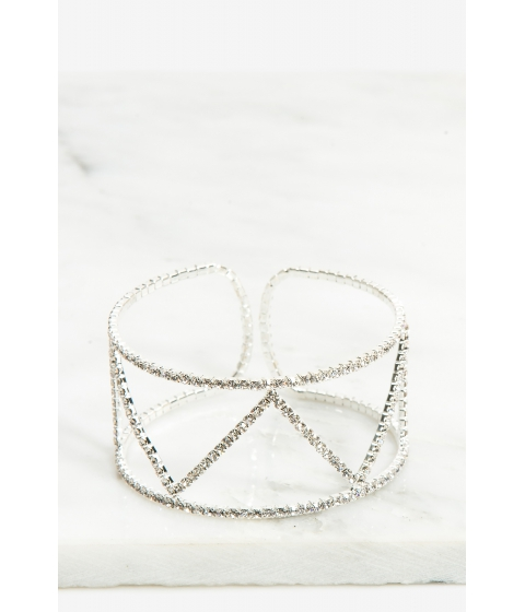 Bijuterii Femei CheapChic Zig Zag Rhinestone Cuff Bracelet Met Slvr