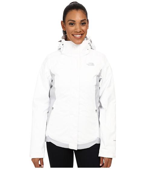 Imbracaminte Femei The North Face Mossbud Swirl Triclimatereg Jacket TNF WhiteHigh Rise Grey