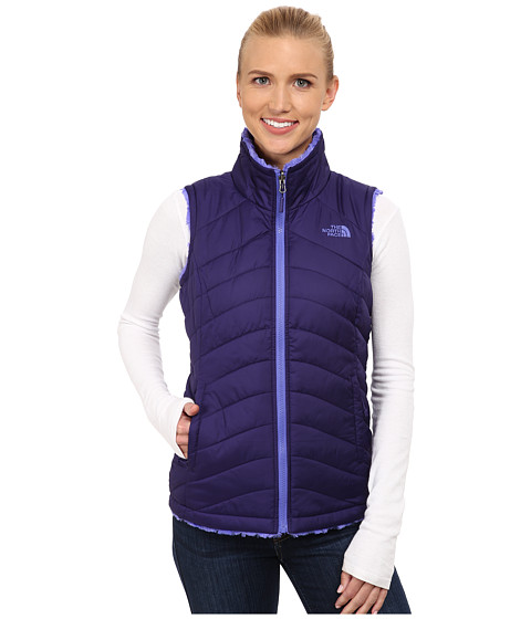 Imbracaminte Femei The North Face Mossbud Swirl Reversible Vest Garnet PurpleStarry Purple