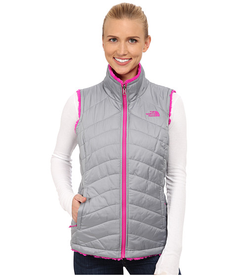 Imbracaminte Femei The North Face Mossbud Swirl Reversible Vest Mid GreyLuminous Pink