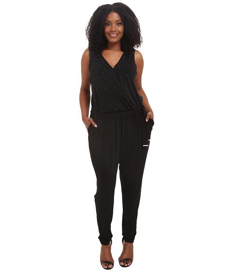 Imbracaminte Femei MICHAEL Michael Kors Plus Size Studded Jumpsuit Black