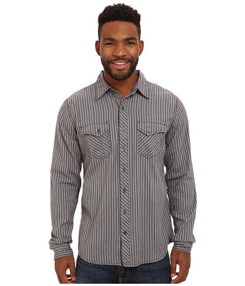 Imbracaminte Barbati Ecoths Wallace Long Sleeve Shirt Smoked Pearl