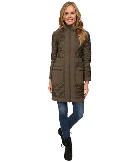 Imbracaminte Femei Merrell Lahti Warmth Plus Long MicroQuilt Jacket Clay