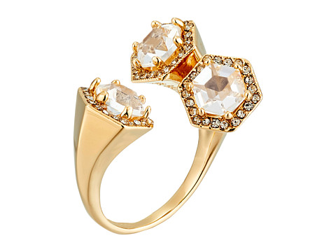 Bijuterii Femei Rebecca Minkoff Three Stone Wrap Ring Gold TonedCrystal
