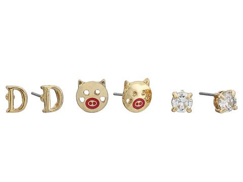 Bijuterii Femei Betsey Johnson CZ Initial Stud Earrings Set Crystal - D