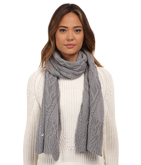 Accesorii Femei UGG Isla Lurex Cable Scarf Grey Heather Multi