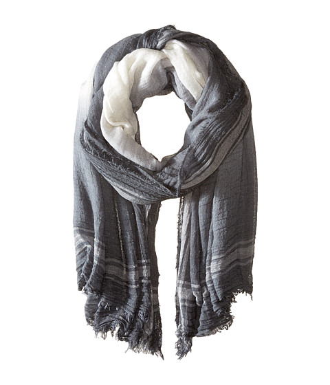 Accesorii Femei Steve Madden Jacqard Stripe with Ombe Border Day Wrap Charcoal