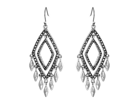 Bijuterii Femei Lucky Brand Multi Diamond Pave Earrings Silver