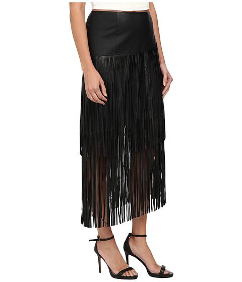 Imbracaminte Femei kensie Soft Pleather Fringe Skirt KS9K6173 Black
