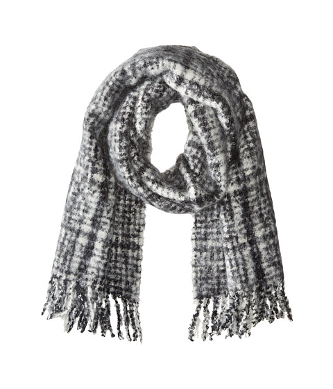 Accesorii Femei LAUREN Ralph Lauren Boucle Menswear Tweed Scarf BlackCream