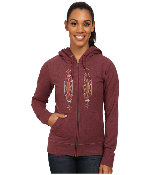 Imbracaminte Femei Patagonia Desert Roots Mid Weight Full-Zip Hooded Sweatshirt Oxblood Red