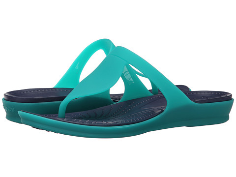 Incaltaminte Femei Crocs Rio Flip Tropical TealNautical Navy