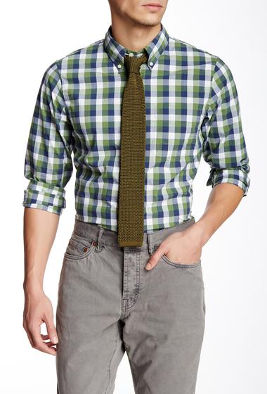 Imbracaminte Barbati Jack Spade Bowen Gingham Long Sleeve Trim Fit Shirt GREEN