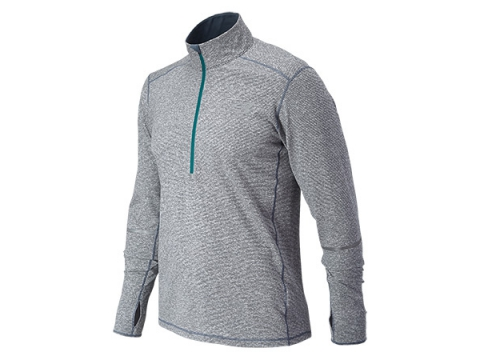 Imbracaminte Barbati New Balance Beacon Half Zip Harbor Blue
