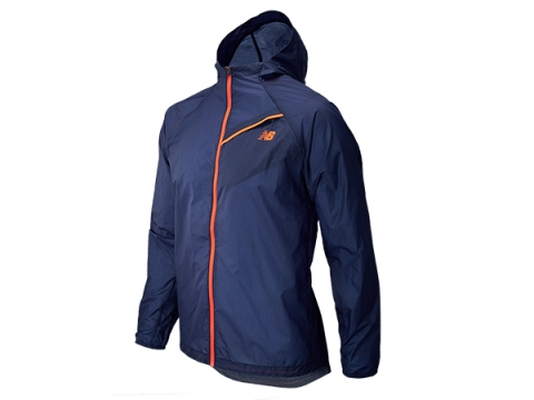 Imbracaminte Barbati New Balance NB Ultra Hooded Jacket Dark Sapphire with Dynamite
