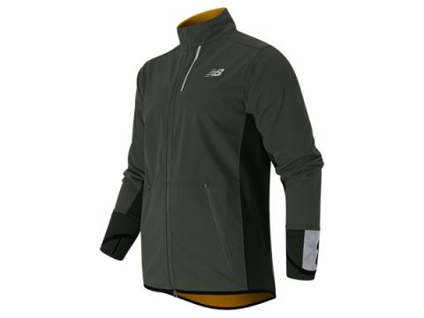 Imbracaminte Barbati New Balance Windblocker Jacket Slate Green with Gold