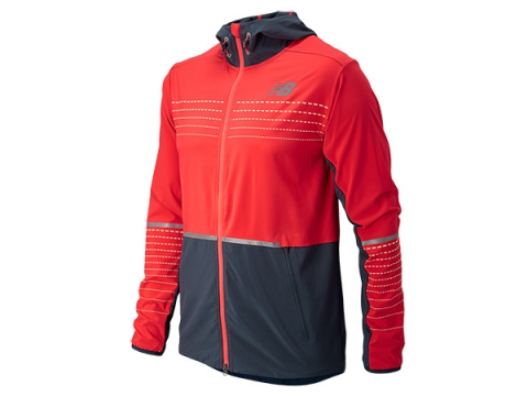 Imbracaminte Barbati New Balance Beacon Jacket Flame with Black