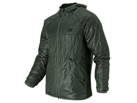 Imbracaminte Barbati New Balance NB Heat Hybrid Jacket Slate Green with Dark Green