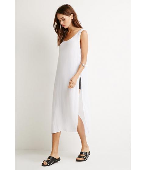 Imbracaminte Femei Forever21 High-Slit Crepe Top White