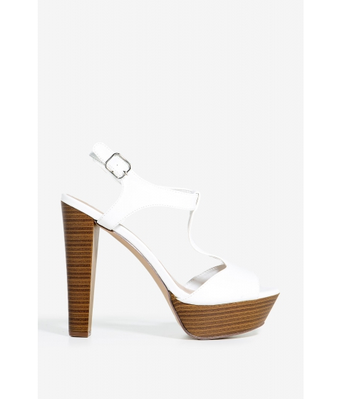 Incaltaminte Femei CheapChic Betsey-41 Rough Tough Platform White