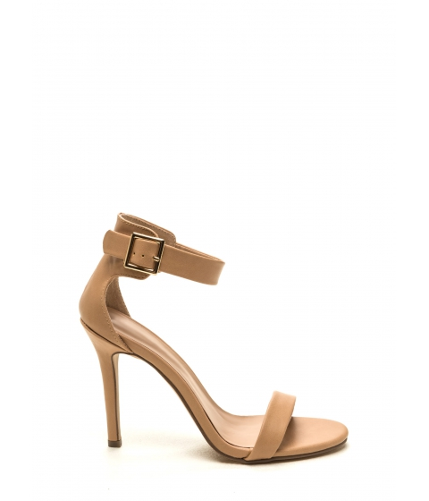 Incaltaminte Femei CheapChic One Way Ticket Single-sole Heels Natural