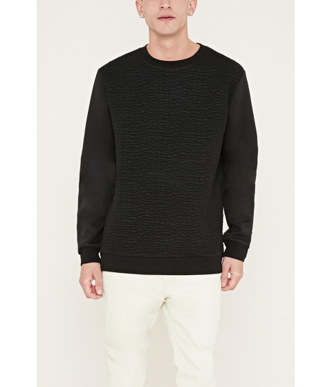 Imbracaminte Barbati Forever21 Textured Knit Sweatshirt Black