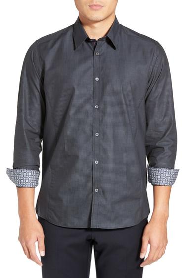 Imbracaminte Barbati Ted Baker London Brunor Long Sleeve Check Extra Trim Fit Sport Shirt CHARCOAL