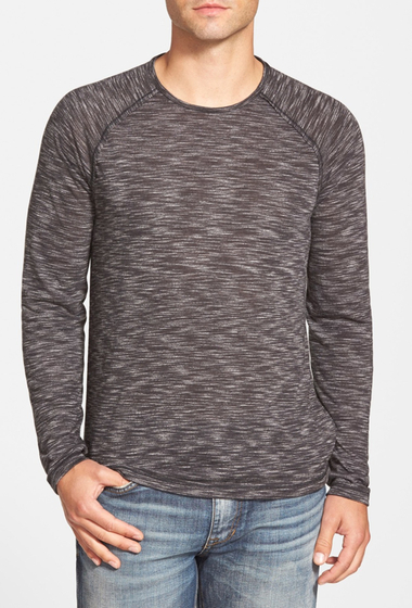 Imbracaminte Barbati Star USA By John Varvatos Raglan Crew Neck Tee ASH HEATHER