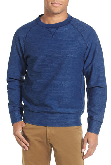 Imbracaminte Barbati Billy Reid Fisher Raglan Crew Neck Pullover INDIGO