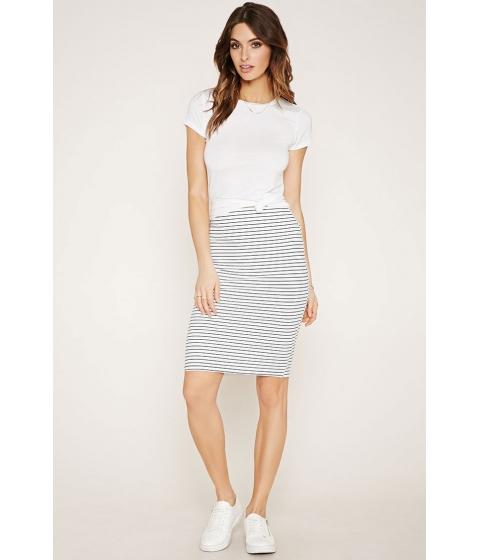 Imbracaminte Femei Forever21 Contemporary Stripe Skirt Ivorynavy