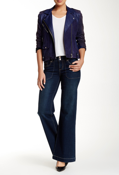Imbracaminte Femei Seven7 Jeans Utility Pockets Wide Leg Flare Jean Ancient
