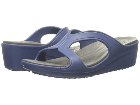 Incaltaminte Femei Crocs Sanrah Wedge Sandal Bijou BlueSmoke