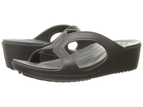 Incaltaminte Femei Crocs Sanrah Wedge Sandal BlackGraphire