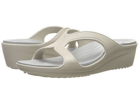 Incaltaminte Femei Crocs Sanrah Wedge Sandal PlatinumSliver