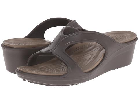 Incaltaminte Femei Crocs Sanrah Wedge Sandal EspressoWalnut