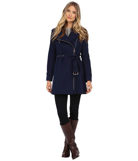 Imbracaminte Femei Michael Kors Asymmetrical Belted Wool Sapphire