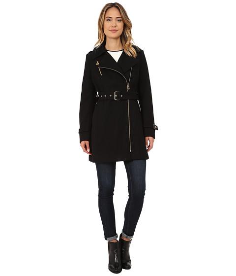 Imbracaminte Femei Michael Kors Asymmetrical Belted Wool Black