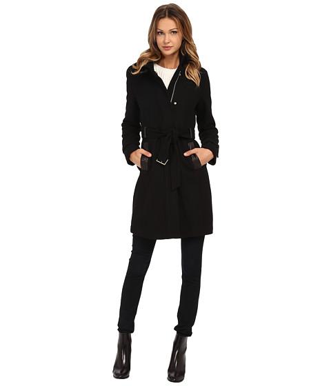 Imbracaminte Femei Cole Haan Zip Front Stand Collar Coat Black