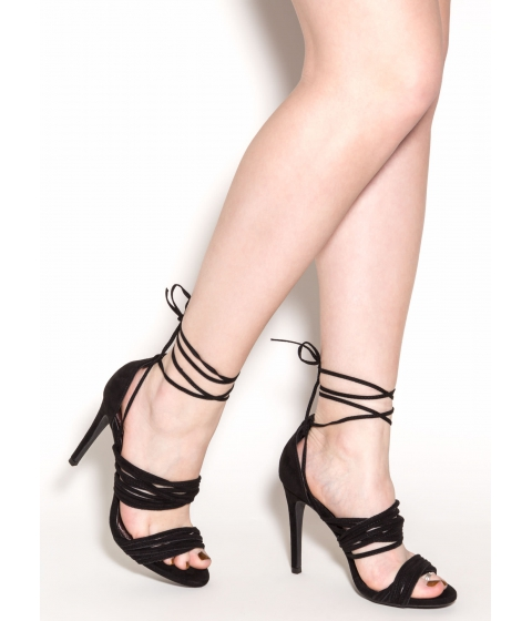 Incaltaminte Femei CheapChic Play The Cords Faux Suede Heels Black